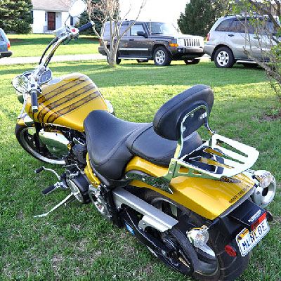 Gadsden flag motorcycle - back of bike