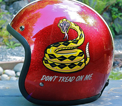 Don't Tread on Me motorcycle helmet