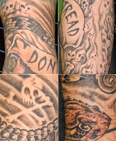 Ronin's Gadsden tattoo