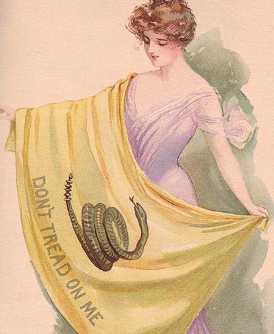 1903 calendar featuring Gadsden flag